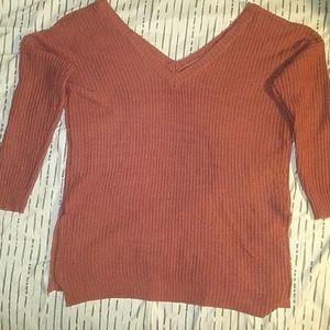 2X Trendy threads V neck Sweater w/ splits